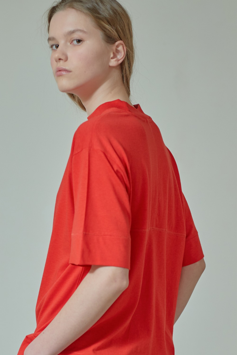 MOCK-NECK PANEL TTS91CO08 RED